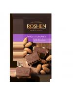 Шоколад Roshen молочний з цілим мигдалем 90г