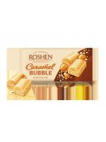 Шоколад пористий білий карамельний Рошен 80г