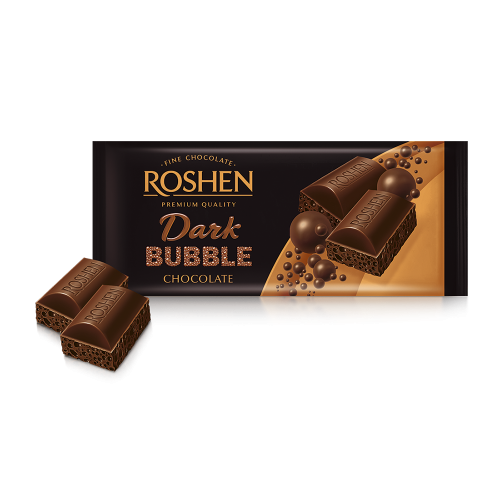 Шоколад пористий екстрачорний Рошен 80г
