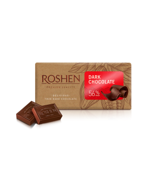 Шоколад Roshen чорний 56%, 90г