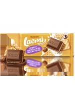 Шоколад молочний Lacmi з какао-горіховою начинкою та крекером 110г
