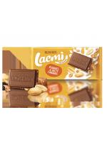 Шоколад молочний Lacmi з арахісом та шматочками солоної карамелі 90г