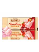 Шоколад пористий білий зі смаком полуниці Рошен 80г