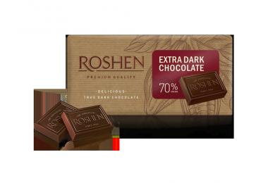 Шоколад Roshen екстрачорний 70%, 90г