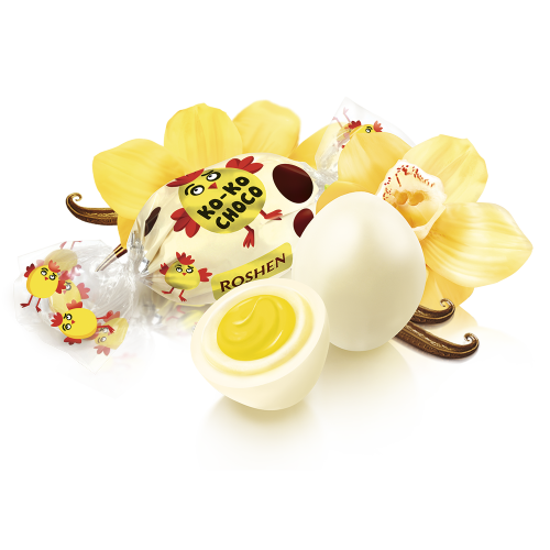 Цукерки Ko-Ko Choco White Roshen 1кг