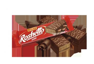 Вафельний батончик Roshetto Dark chocolate 34г