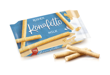 Вафельні трубочки Konafetto з молочною начинкою 140г