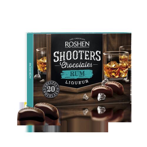 Цукерки Roshen Shooters з ромовим лікером 150г