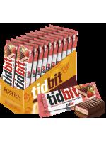 Шоколад Roshen молочний TIDBIT з начинкою зі смаком Полунично-йогуртовий тарт 50г