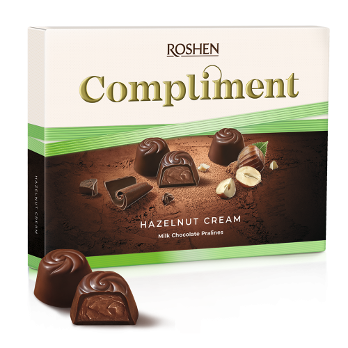 Цукерки Roshen Compliment Hazelnut cream 122г