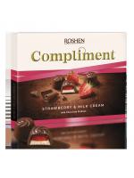 Цукерки Roshen Compliment Strawberry & Milk cream 123г