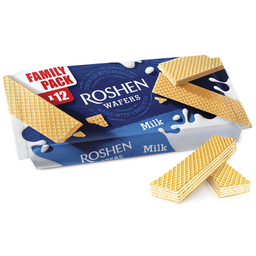 Вафлі Roshen Wafers молоко 216г