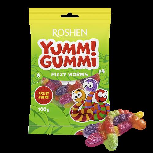 Желейні цукерки Yummi Gummi Fizzy Worms 100г