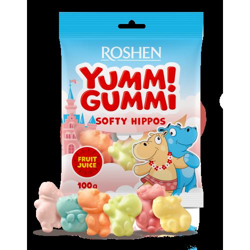 Желейні цукерки Yummi Gummi Softy Hippos 100г