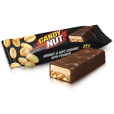 Цукерки Candy Nut нуга і м'яка карамель з арахісом 1кг