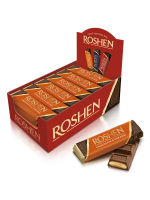 Батончик Roshen молочно-шоколадний з карамельною начинкою 40г