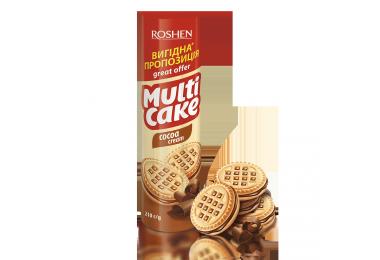 Печиво-сендвіч Multicake з начинкою какао 180г