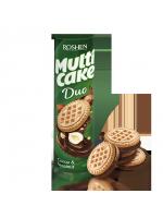 Печиво-сендвіч Multicake Duo з начинкою какао-горіх 180г