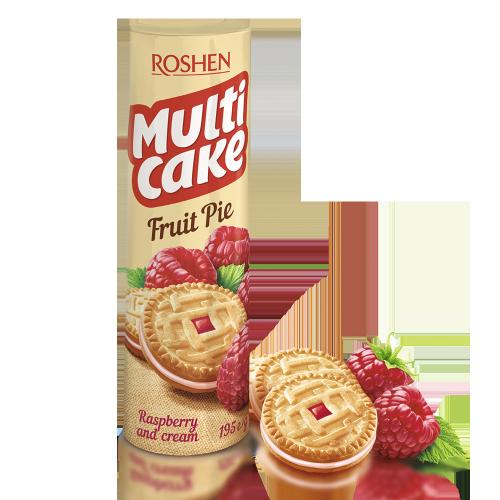 Печиво-сендвіч Multicake з начинкою малина-крем 195г