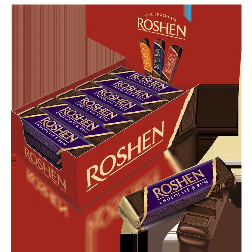 Батончик Roshen шоколадний з ромовою начинкою 43г