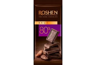 Шоколад Roshen чорний Brut 80%, 85г