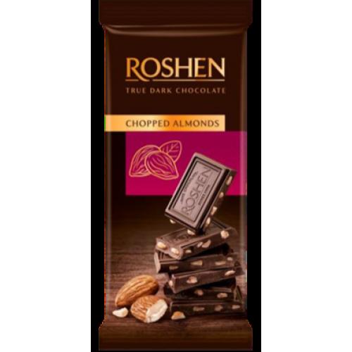 Шоколад Roshen чорний з підсоленим подрібненим мигдалем 85г