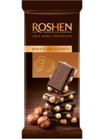 Шоколад Roshen екстрачорний з цілим лісовим горіхом 90г