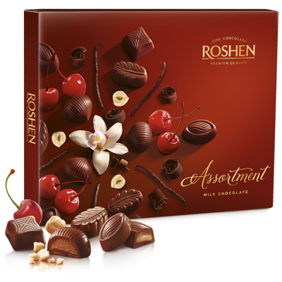 Цукерки Roshen Assortment Elegant milk chocolate