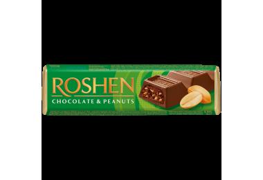 Батончик Roshen молочно-шоколадний з арахісовою начинкою 38г