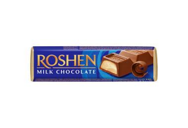 Батончик Roshen молочно-шоколадний з начинкою крем-брюле 43г