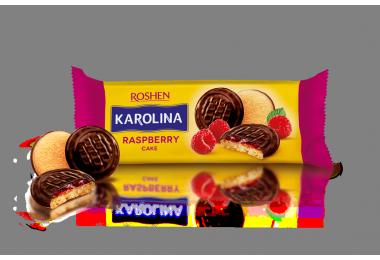 Печиво Roshen Karolina з желейною начинкою зі смаком малини 135г