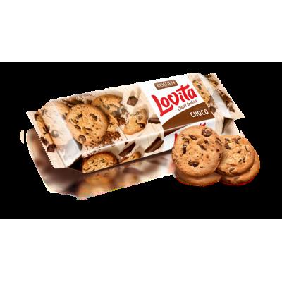 Печиво Lovita Classic Cookies з кусочками глазурі 150г