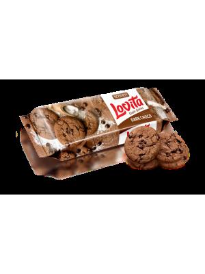 Печиво Lovita Classic Cookies з какао і кусочками глазурі 150г