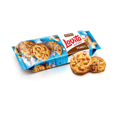 Печиво Lovita Classic Cookies з арахісом 150г